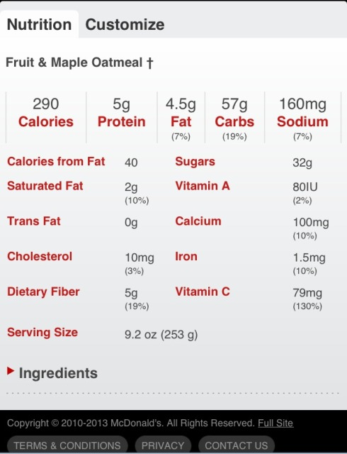NutritionFacts.McDonaldsOatmeal
