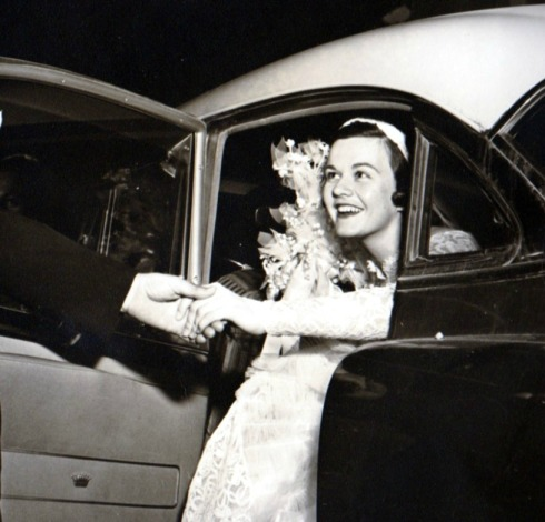 Joan Arriving in Car