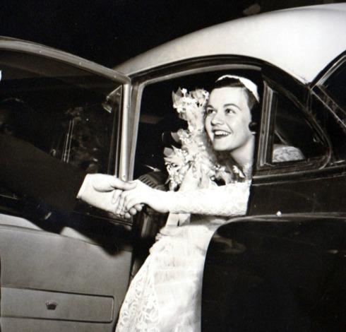 Joan Arriving in Car
