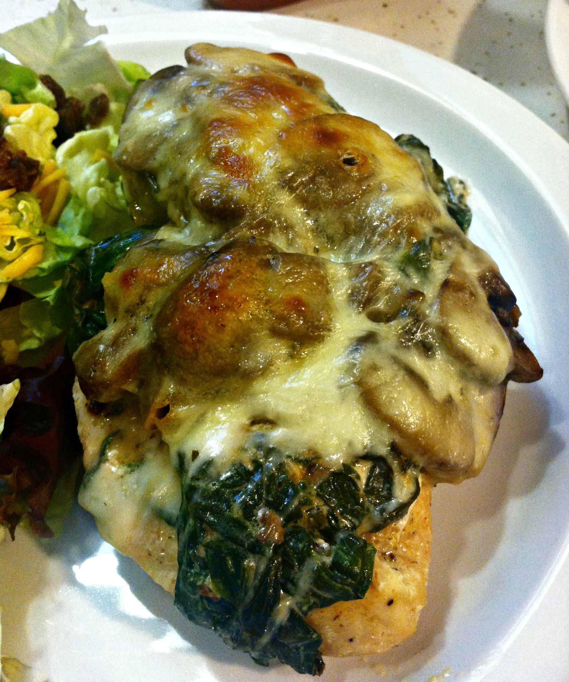 Mushroom & Creamed Spinach Smothered Chicken