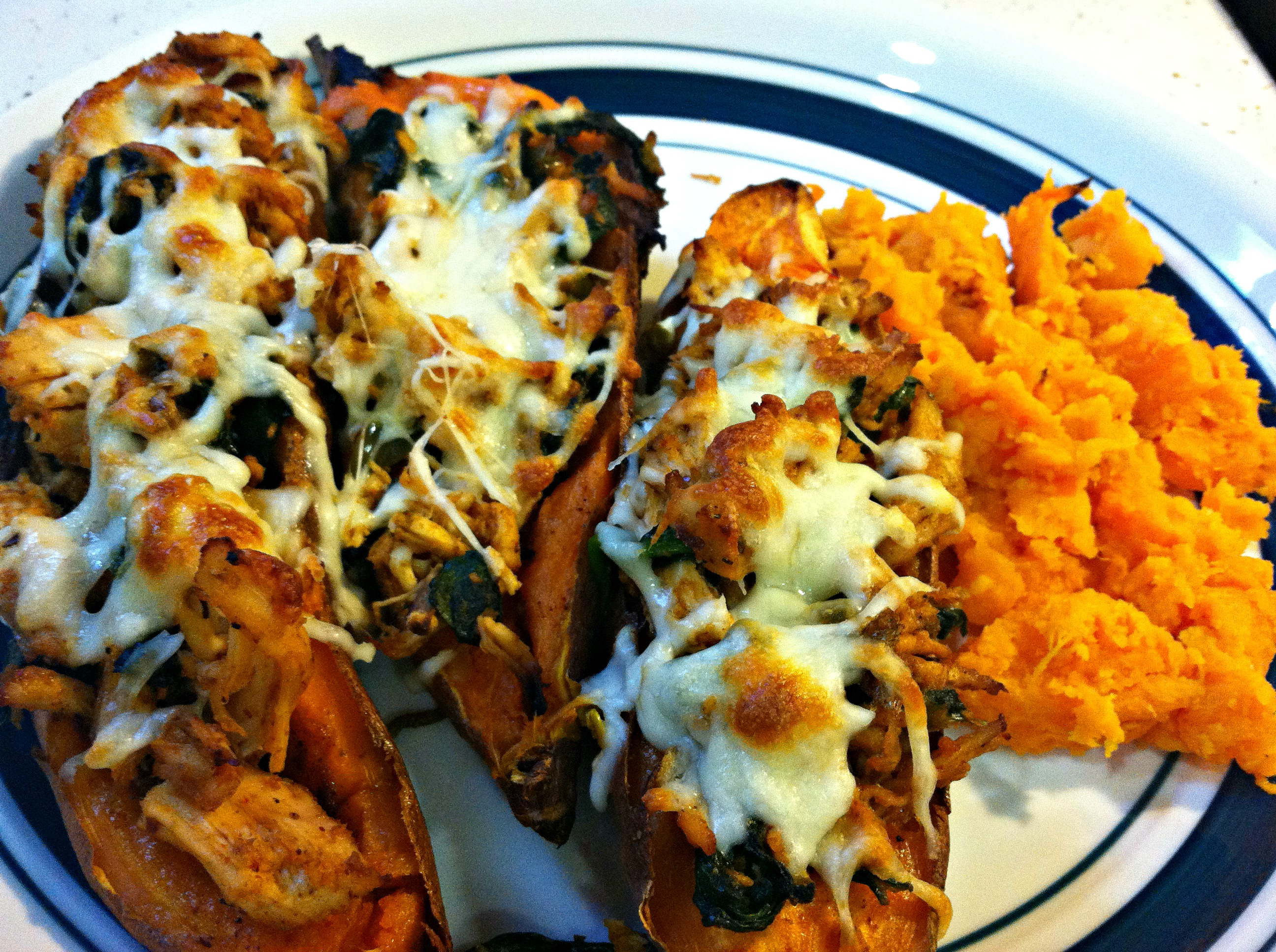 Southwest Smothered Sweet Potato Skins (inspired by Half Baked Harvest ...