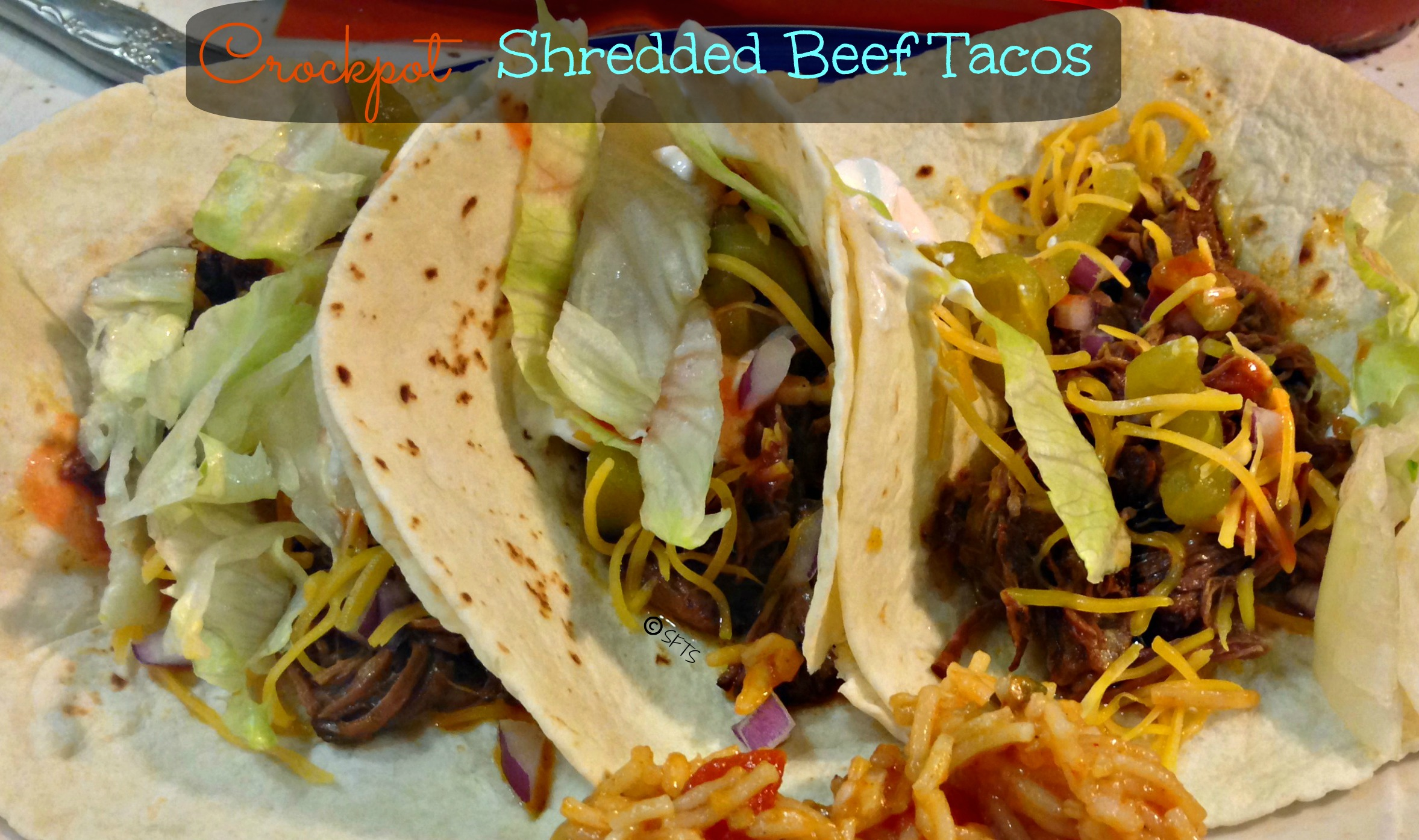 Crockpot Shredded Beef Tacos (from Gimme Some Oven )