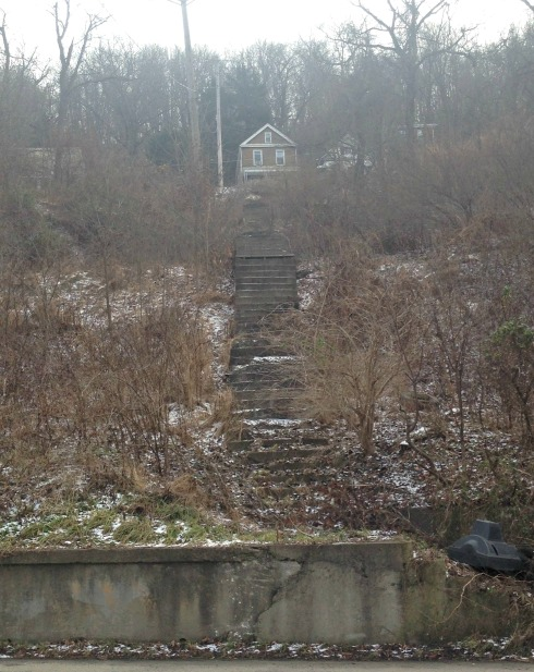 Maybe even up these stairs I found on my run!