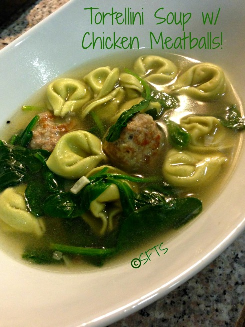 Tortellini Soup With Chicken Meatballs