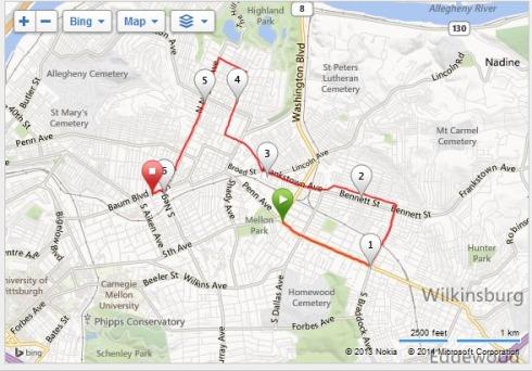 Pittsburgh-Marathon-Relay-Leg-4-Map