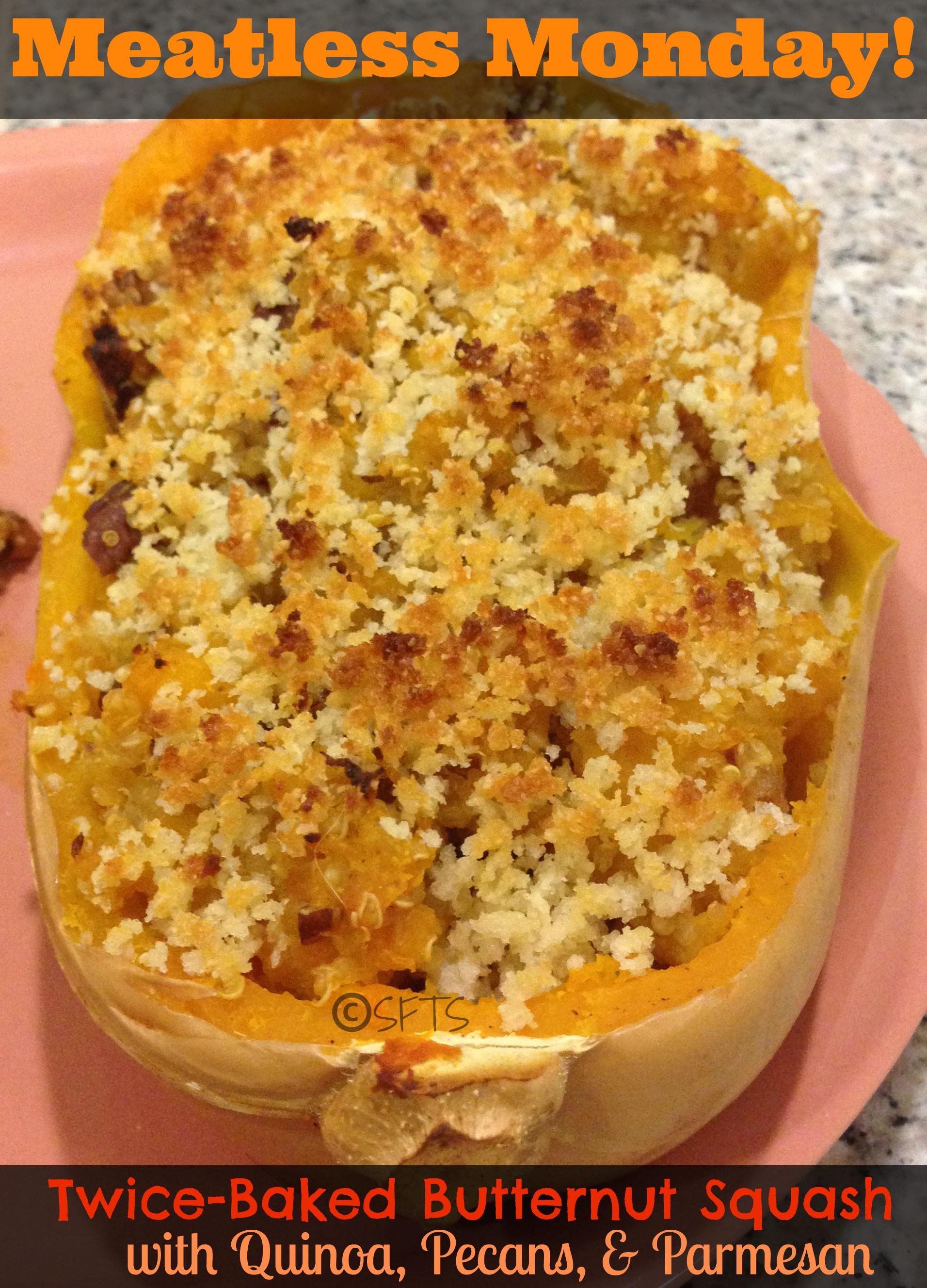 Twice Baked Butternut Squash w/ Quinoa & Pecans (original recipe by ...