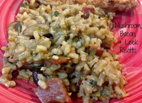 Mushroom-Bacon-Leek-Risotto