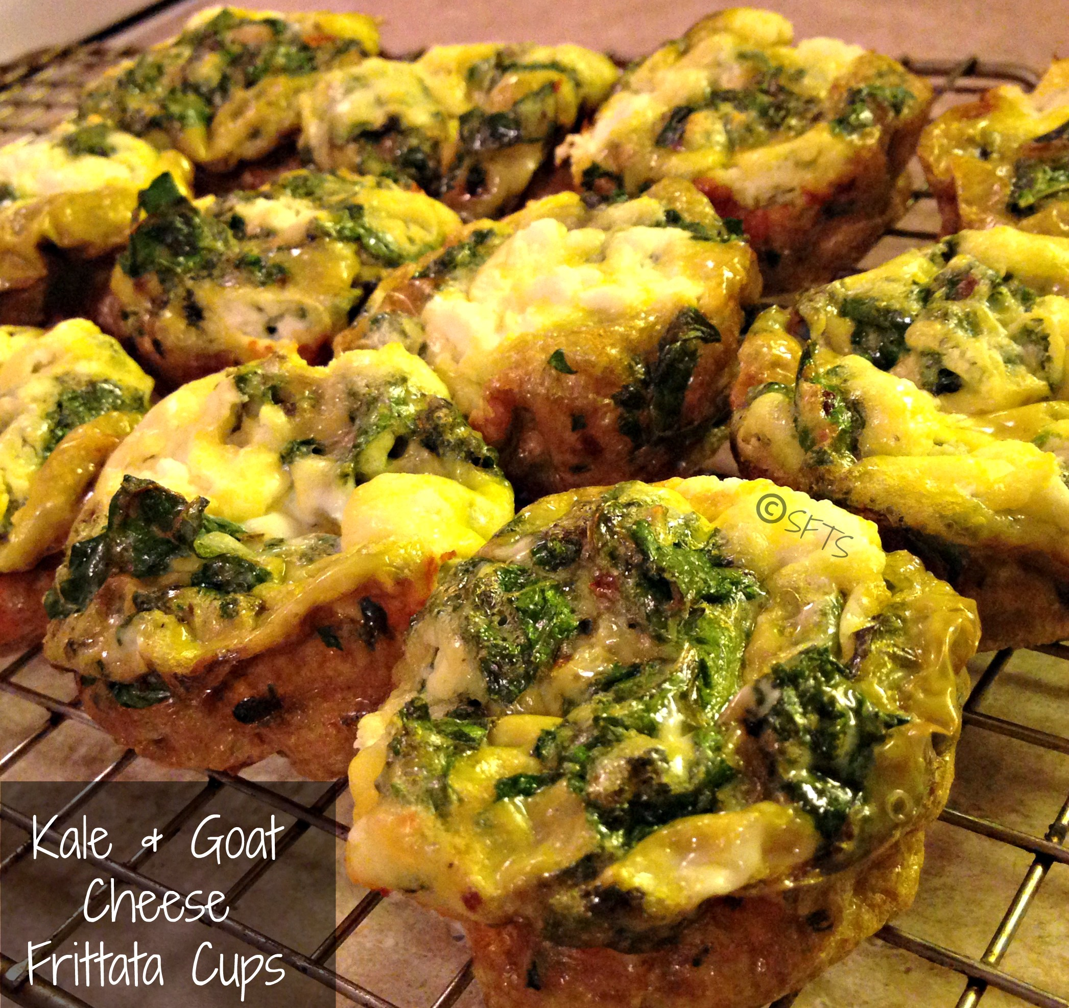 Kale and Goat Cheese Frittata Cups (recipe from The Kitchn )